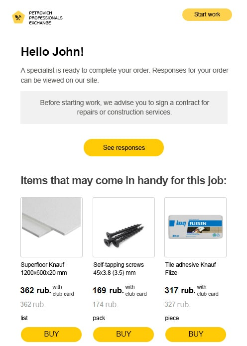 The letter arrives if the client has not visited the site within a day of the masters response.