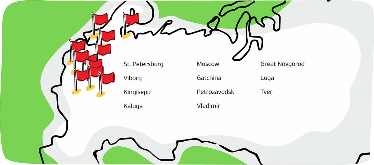Petrovich has retail shops in 11 cities across Russia